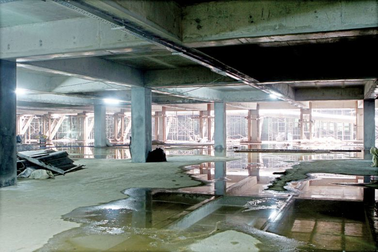 The parking lot space underground between Canadia Tower and Vattanac Capital is the first of its kind for the public in Cambodia.