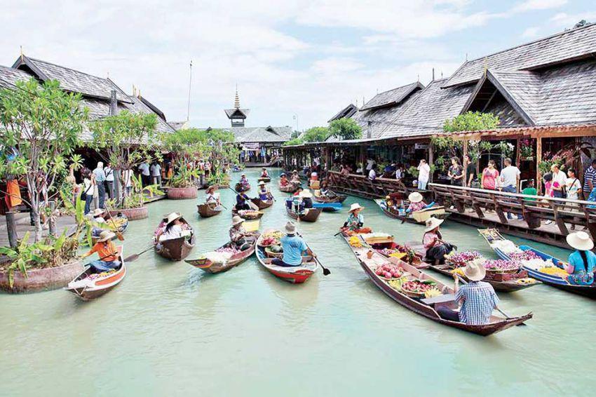 Image result for floating market thailand