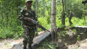 Thai security patrol near the Cambodian border last year