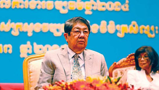 Sok An, pictured at an event in Phnom Penh earlier this year
