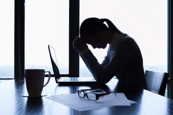 distressed female employee