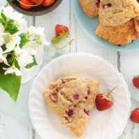 strawberry mint scones