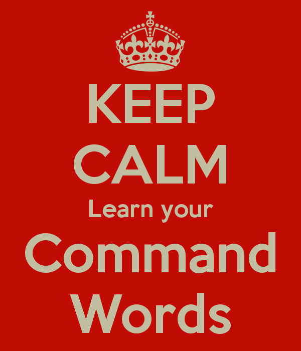 Keep Calm Learn Your Command Words