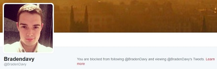 Blocked by Braden Davy
