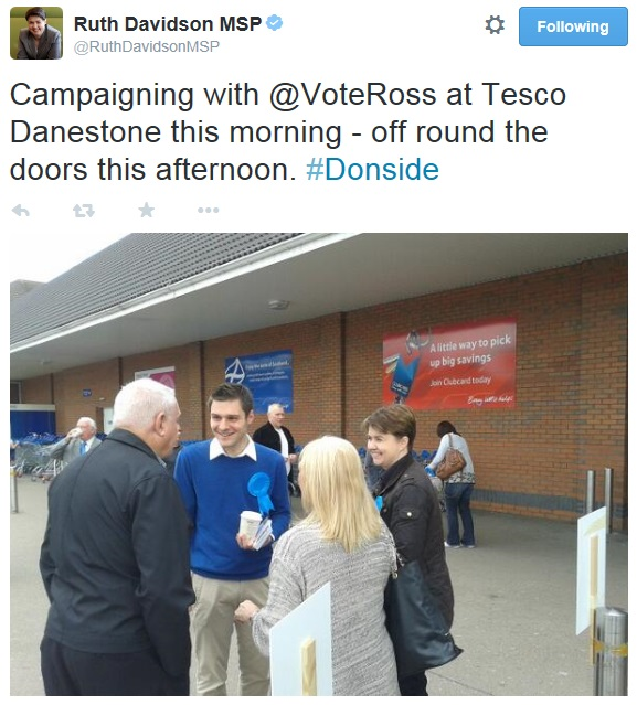 Ruth Davidson Tesco Again