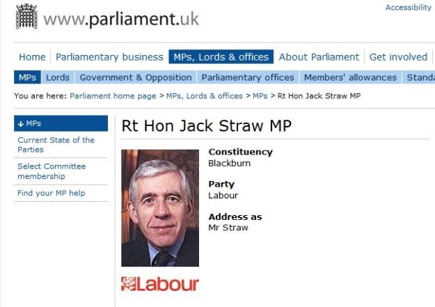 Jack Straw's page