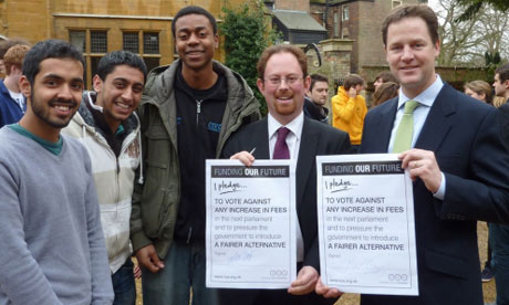 Nick Clegg pledge