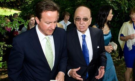 David Cameron and Rupert Murdoch