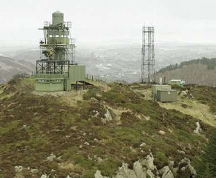 A watchtower on the Irish border