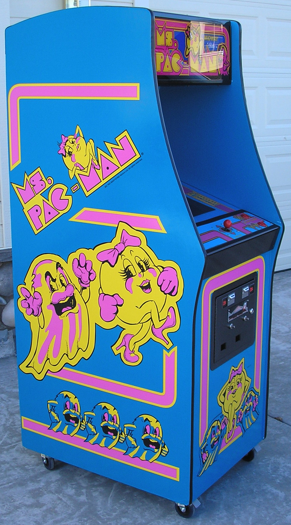 Ms Pac Man 3 Piece Decal Set Left Right And Front