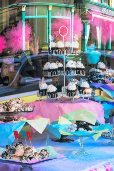 Man-made – colorful store window display of sweets