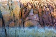 Fantasy – image of colorful pareidolia stoned face