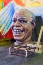 Conceptual – Louis Armstrong Mardi Gras figure head and wings