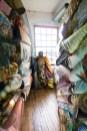 Fantasy – colorful fabrics drape a conceptual 'geisha'