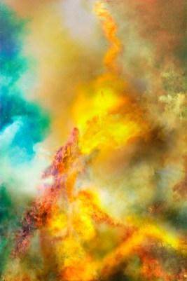 Fantasy – flames suggest a pareidolia 'fire eating' smoke creature