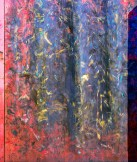 Graphic – colorful paint scuffs on sheet metal