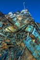 Fantasy – compressed sheets and tubes comprise a metal mountain of trash