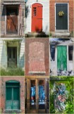 Graphic – nine panels of New England doors