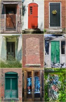 Graphic – nine panels of New England doors