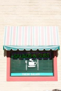 Graphic – Veranda shaded window of a restaurant