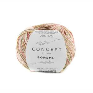 BOHEME (50-Korallen-Beige-Minzgrün)