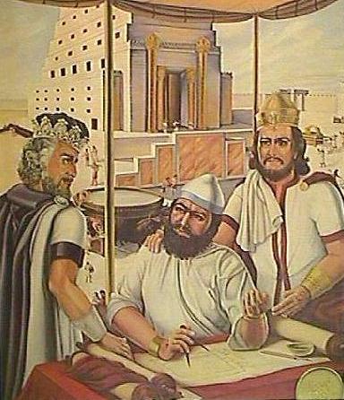 Hiram Abif en el Templo de Salomón