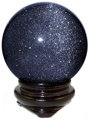 Blue Or Red Goldstone Sphere Gemstone Mineral Crystal Ball