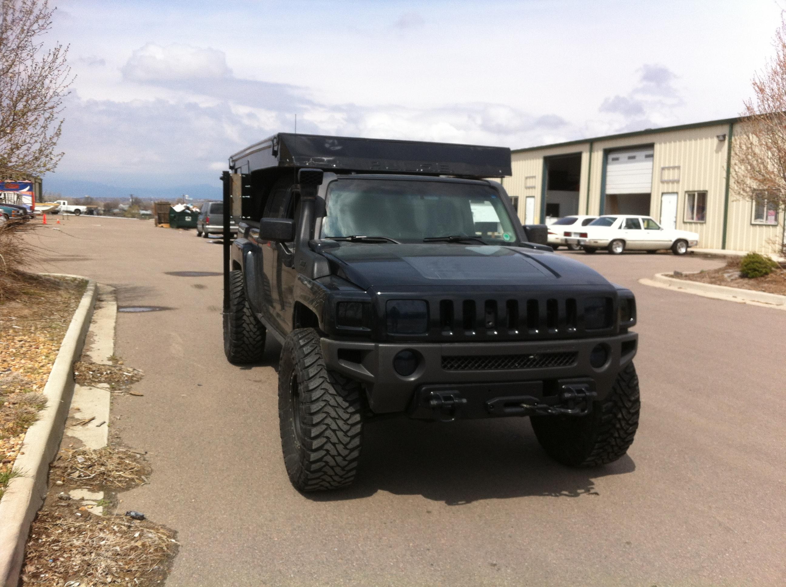 Custom pop up camper for 2009 Hummer H3T