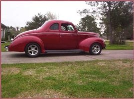 "Wayne Jurica Pearland, TX 1940 Ford Coupe Std. 350 Chev. 3:50 gear ratio PT700R4SS Phoenix Transmission 2400-2500 stall speed ""Torque Max®"" converter"