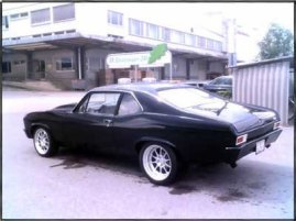 "Erwin Wyss Zollikofen,BERN (Switzerland) 1969 Nova Bill Mitchell 632cid 780hp-830lbs/ft of torque 3:25 gear ratio 1050 Holley Dominator PT4L80ESS Phoenix Transmission 2800rpm stall speed ""Torque Max®""converter HGM-Compushift controller with harness and display box"