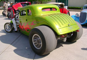 Lillard Hill Bakersfield, Ca 1934 Ford Coupe Blown 392 Chrysler 660 HP PT-400SX Phoenix Transmission with Gearvendors OD