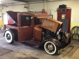 This is Mikael Björk of Sweden's 1928 Ford Pickup with Phoenix Transmission's PTAODSS Ford AOD Transmission.
