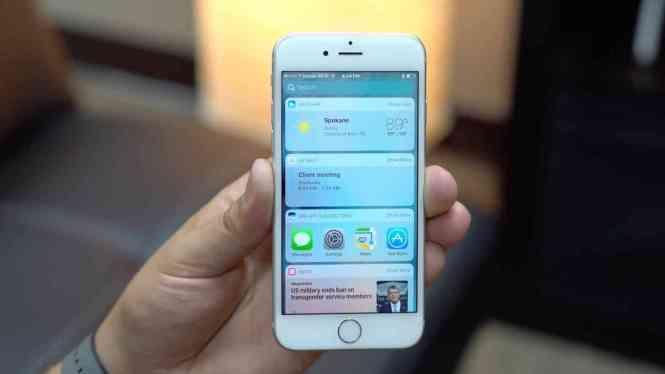 Apple's iOS widgets