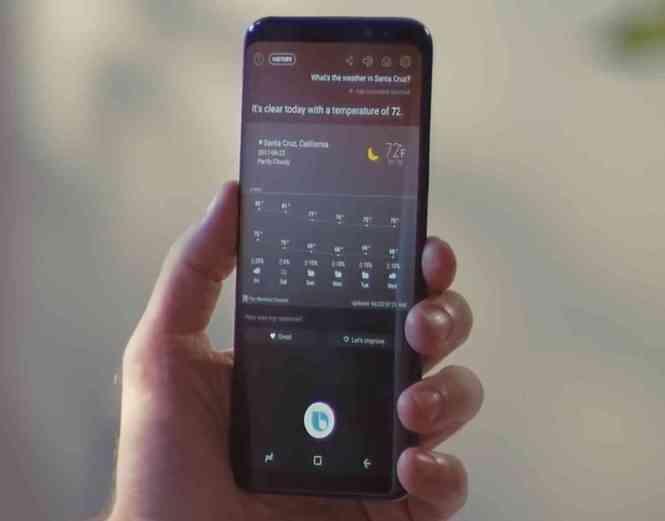 Samsung Bixby weather Galaxy S8