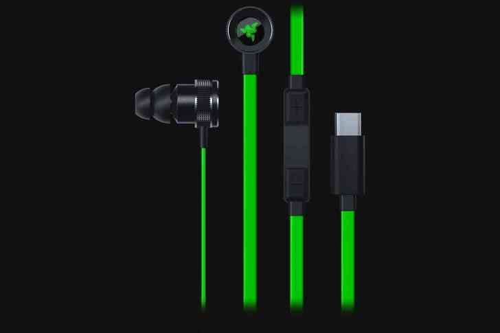 Razer Hammerhead USB-C earbuds remote cable