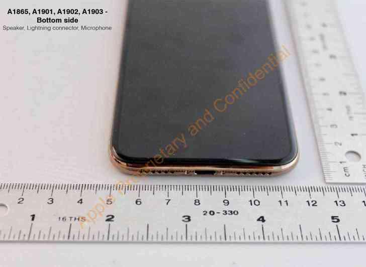 Gold iPhone X bottom edge leak