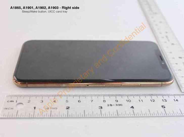 Gold iPhone X side edge leak