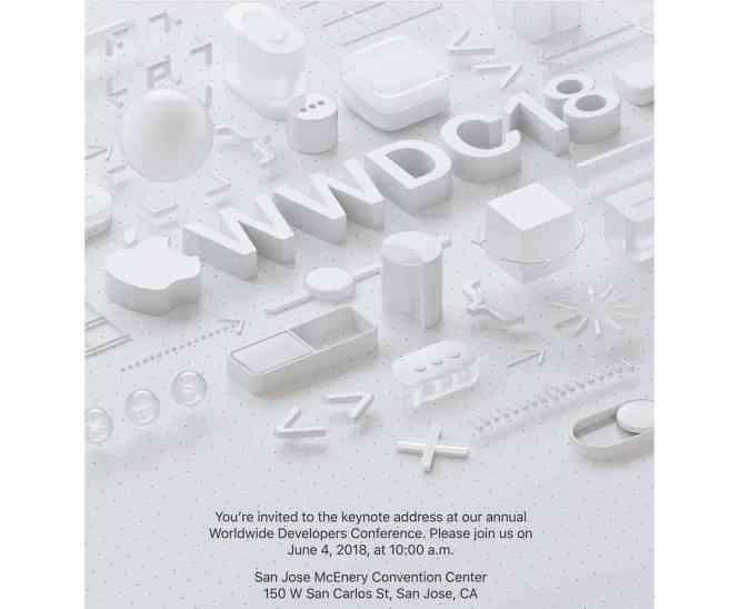 Apple WWDC 2018 keynote address invitation