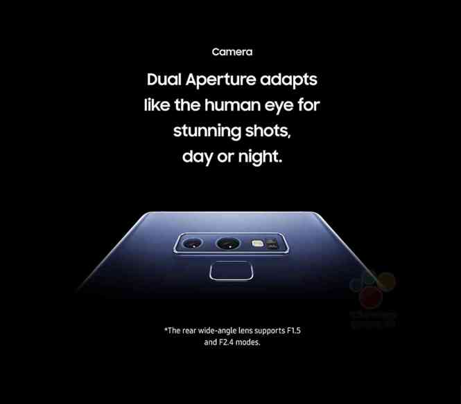 Samsung Galaxy Note 9 dual rear cameras features leak