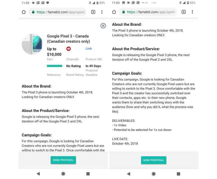 Google Pixel 3 announcement date leak