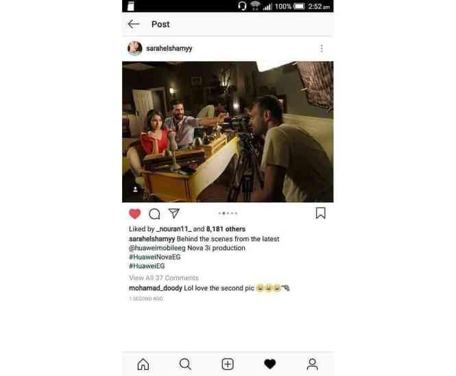 Huawei Nova 3 ad DSLR Instagram