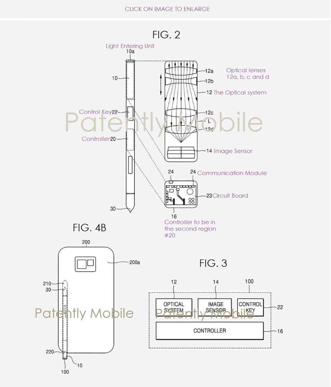 Samsung S Pen camera patent