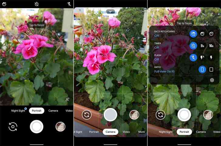 Pixel 4 camera app leak