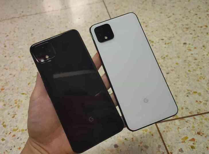 Pixel 4 XL black, white comparison