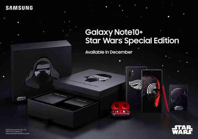Galaxy Note 10+ Star Wars bundle