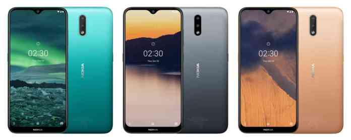 Nokia 2.3 colors