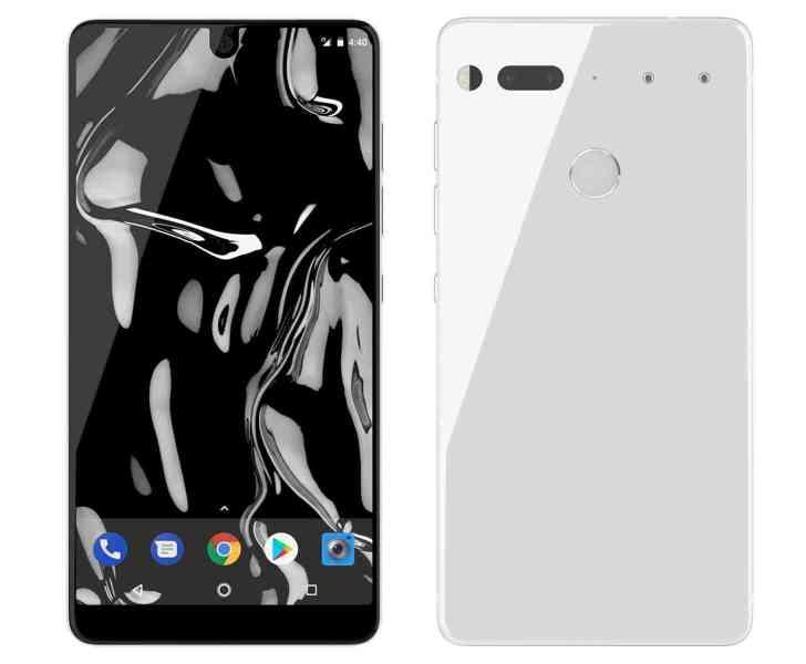 Pure White Essential Phone