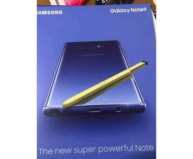 Samsung Galaxy Note 9 leak S Pen headphone jack