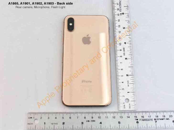 Gold iPhone X back leak