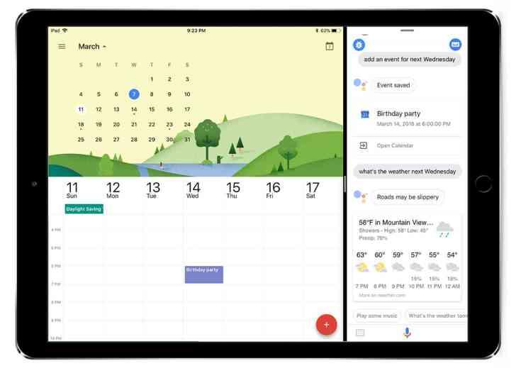 Google Assistant iPad official
